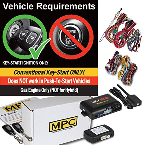 MPC Complete 1-Button Remote Start Kit for 2004-2008 Acura TL - Includes Bypass - Firmware - Module Start Acura Bypass Remote