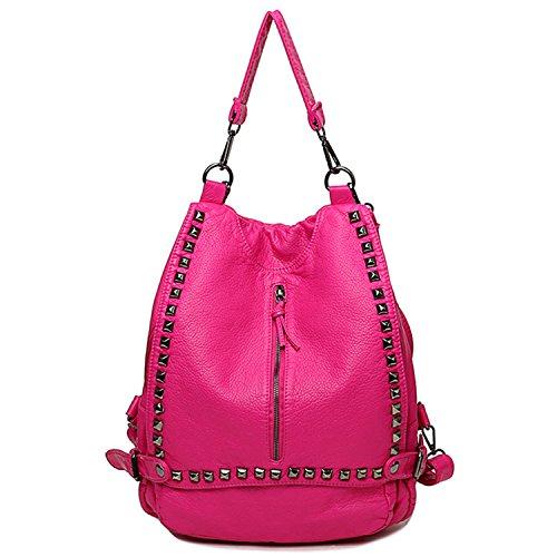 YNIQUE Women's Soft Lampskin Backpacks Soft Leather Shoulder Bag