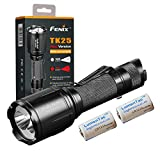 Fenix TK25 Red Version 1000 Lumen Dual White and Red Output Tactical Hunting Flashlight with 2x Lumen Tactical CR123A Batteries