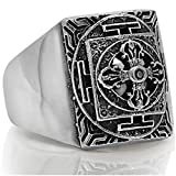 Cross Signet Solid 925 Sterling Silver Men Ring - Made in Thailand – 14