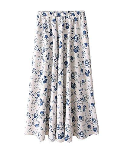 Littrature A t Swing Line 16 Art Maxi Taille Taille Et Color Longue Imprim Jupe Longue Style Boho Femme Floral Voyager Plage Jupe lastique t Lin Grande qTUXwnX6xP