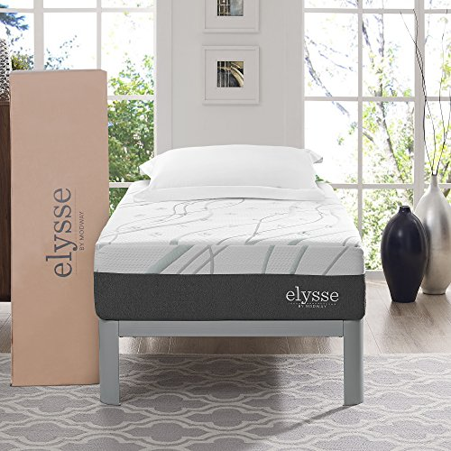 Modway Elysse 12' Queen Cooling Hybrid Mattress - CertiPUR-US Certified Memory Foam - Individually Encased Coils - 10-Year Warranty