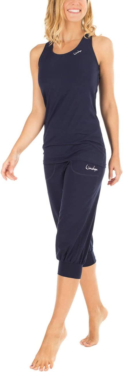 WINSHAPE Wbe12 Mujer Transpirables, Cintura Alta, 3//4 Pantalones de Entrenamiento para Mujer