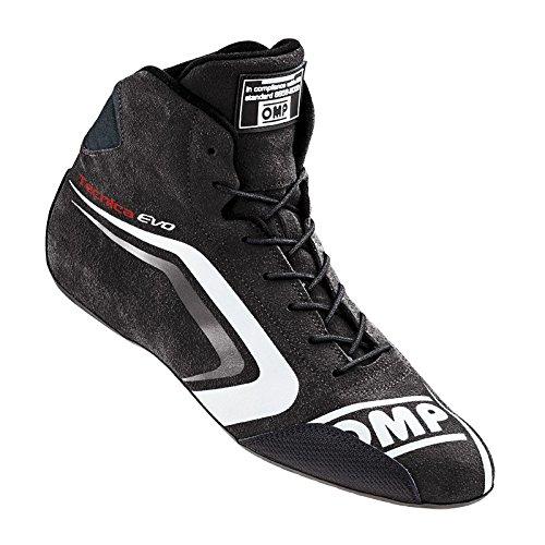 OMP 2016 Tecnica Evo Shoes - Size 11.5 - 12 (Euro 45) - Black/White - FIA 8856-2000 (IC/803E07145) by OMP Racing