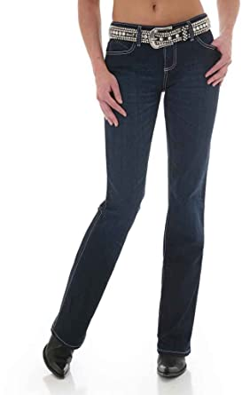 6f10a25671d Wrangler Women s Cowgirl Cut Booty Up Ultimate Riding Q- Jeans Denim 0W x  34L