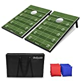 GoSports Classic Cornhole Set - Includes 8 Bean Bags, Travel Case and Game Rules (Choose Between Classic, American Flag, and Football Designs)
