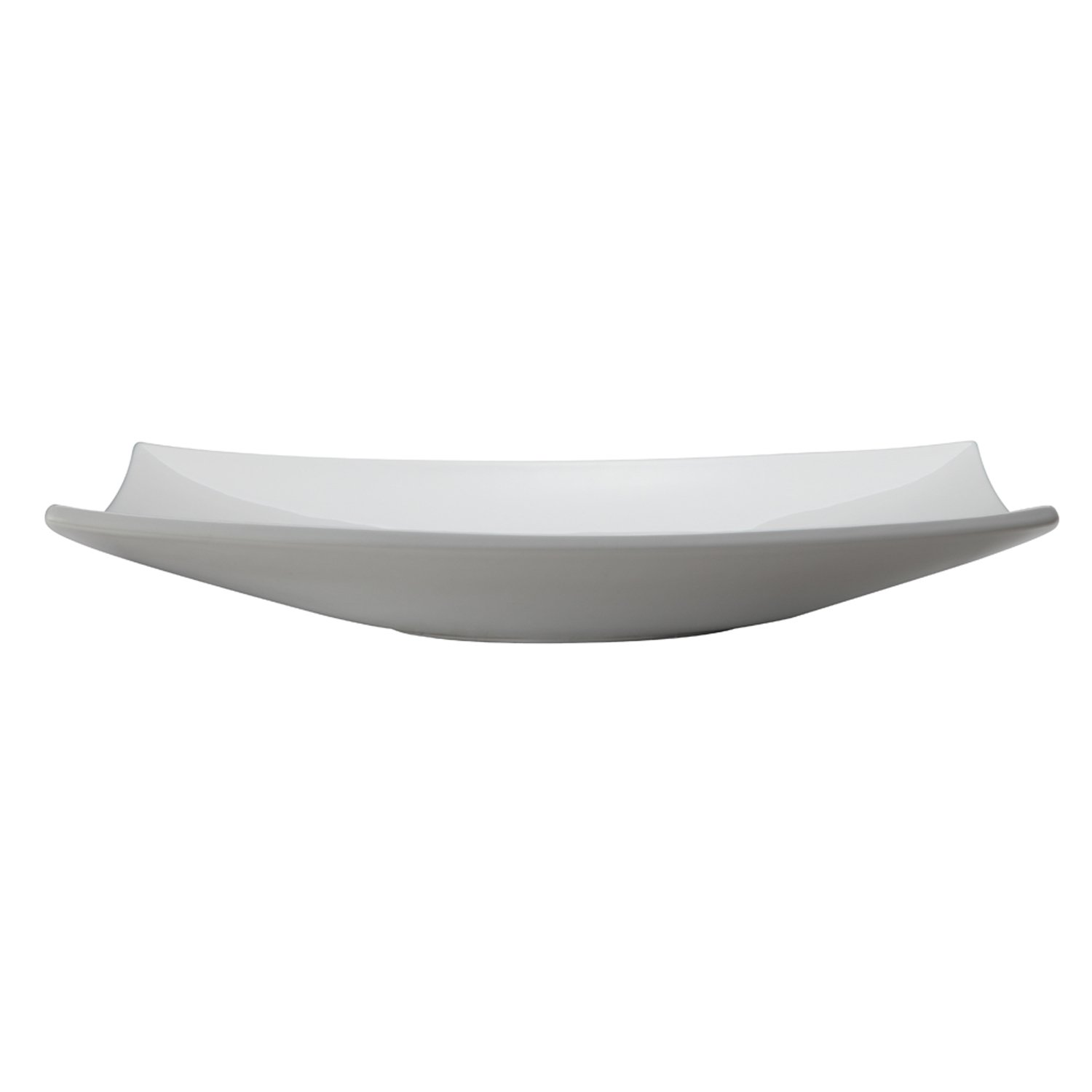 DECOLAV 1443-CWH Iris Classically Redefined Rectangular Vitreous China Above-Counter Lavatory Sink, White by Decolav