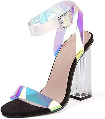 Women Iridescent Ankle Strap Sandals