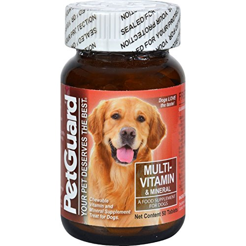 Petguard Multi-Vitamin and Mineral - For Dogs - 50 Tablets Dog Tablet Vitamins