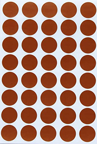 Round Stickers Labels Sticker dot 19mm 3/4 inch - Brown - 280 Pack by Royal - Brown Stickers