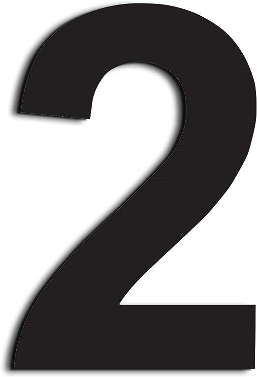 Nanly Número de casa moderna-20.5 Centímetros NEGRO/8 pulgadas ...