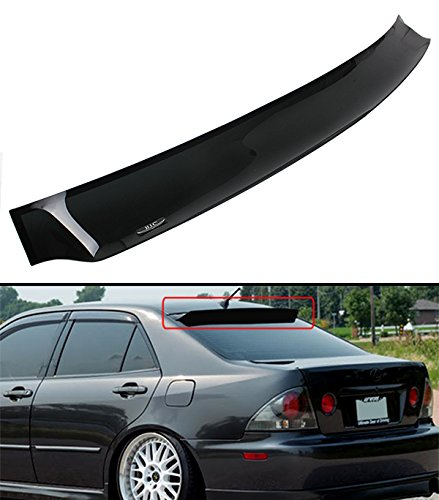 HIC FOR 2000-2005 LEXUS IS300 SMOKE TINTED REAR ROOF AERO WINDOW VISOR DEFLECTOR ()