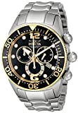 Invicta Men's 14197 Lupah Chronograph Black Dial Stainless Steel Watch