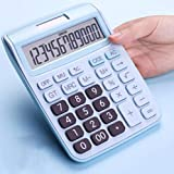CalculatorCute Solar Computer  Solar Dual Power Supply  Plastic Button  12 Digits Large Screen Display Portable and Convenient (Blue 049)