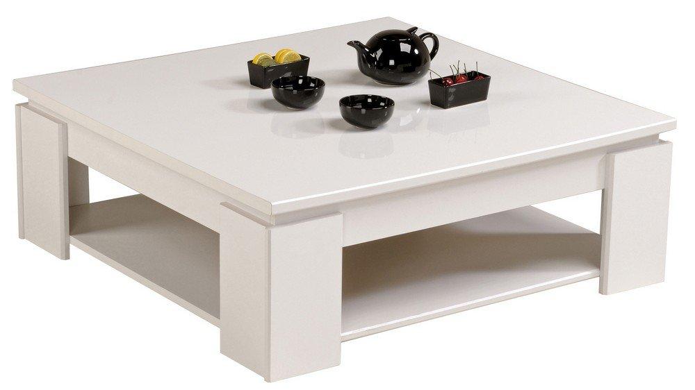 parisot 9439taba table basse quadri taba blanc megevebril bois amazonfr cuisine maison