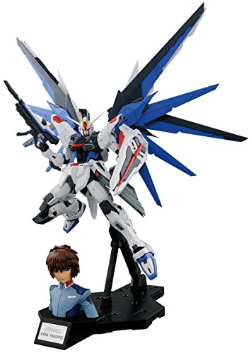 Bandai Hobby MG 1/100 Dramatic Combination MG Freedom Gundam Ver 2.0 & Kira Yamato Gundam Seed Action Figure