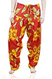 Indian Clothing Women's Full Length Patiala and Dancer Pants Printed; Large; Red