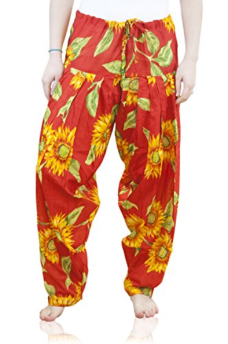 Indian Clothing Women's Full Length Patiala and Dancer Pants Printed; Large; Red by Shristi