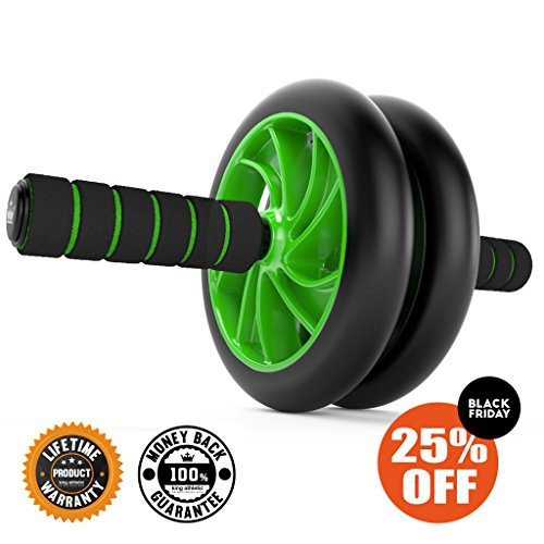 Black Friday Sale :: Ab Roller Wheel :: Abs Carver for Abdominal & Stomach Exercise Training :: Fitness Equipment Core Shredding :: Includes 2 Bonus E-Books