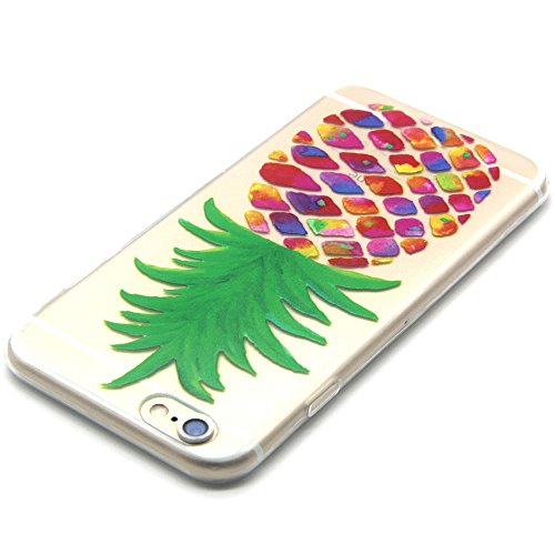 Ecoway Cover/Cover/Case Multicolore Morbido TPU Custodia Cover per Apple Iphone 6 PLUS/6S Plus 5.5 – ananas