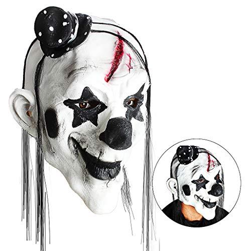 OWUDE Scary Clown Mask, Horror Creepy Latex Clown
