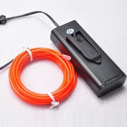 Topyart neon led light glow el wire battery pack string