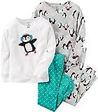 Carter's Baby Girls' 4 Pc Cotton 331g171, Penguin, 18M