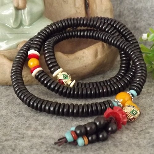 Natural authentic African ebony beads bracelets men women prayer beads piece retro charm bracelet rosary