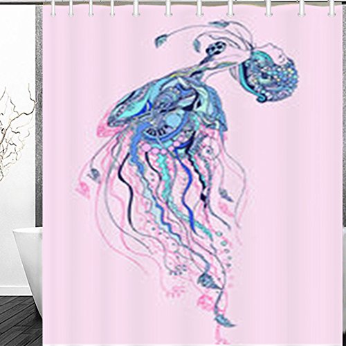 Dub Frame Child Dub (Shower Curtains Greeting Jellyfish Girl Frame Ornament Fashion Textures Models Sketch Decor Bathroom 60 x 72 Inches Polyester Fabric Bath Curtain)