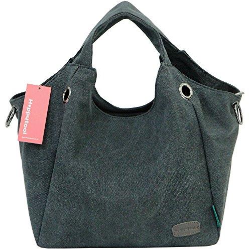 Women for Shoulder Bag Shopping Travel Bag hobo bag Handle ergo Top Handbag Black Tote Happytool 7w0OqxCa
