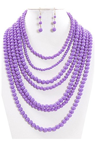 Hat Bead Necklace - 5