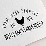 Egg Carton Stamp, Chicken Stamp, Custom Egg Stamp, Farm Stamp, Chicken Lover Gift, Egg Label, Farm Fresh Eggs Stamp. Chicken Coop Stamp Z59