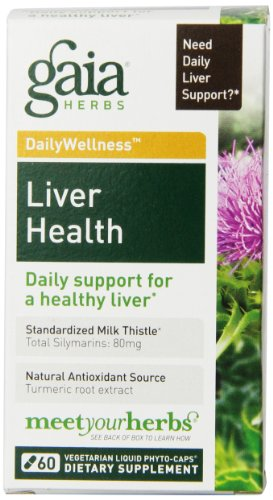 Gaia Herbs foie Liquide Santé Phyto-capsules, 60 comte