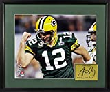 "GB Packers Aaron Rodgers ""SB XLV Champ & MVP"" 11x14 Photograph (SGA Signature Engraved Plate Series) Framed"