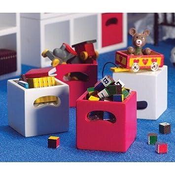 2 St/ück Dolls House 5702 wei/ße Regale Holz 1:12 f/ür Puppenhaus