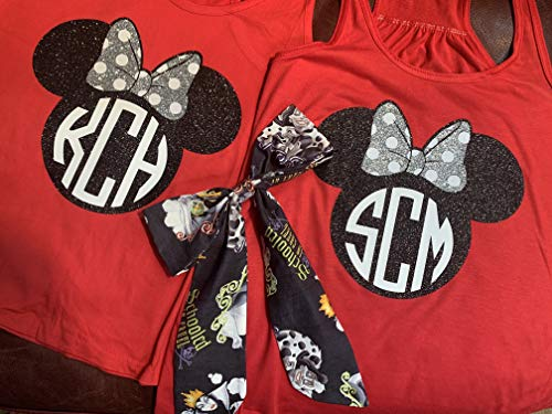 Handmade Disney Halloween ~Personalized ~Mickey's Not So Scary Halloween Party,mother/daughter -
