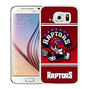 Fashionable Antiskid Cover Case For Samsung Galaxy S6 With Toronto Raptors 10 White Phone Case