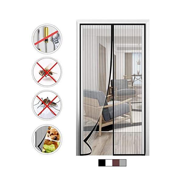 GUOGAI Magnetica per Zanzariera 170x260cm(67x102inch) Zanzariera Porta Finestra Anti Insetti Mosche Zanzare Totalmente… 1 spesavip