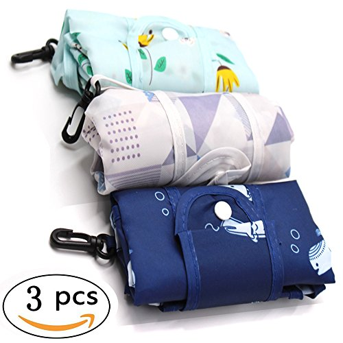 3 Pack Elegant Styles Reusable Shopping Tote Travel Recycle Grocery Bags - 25