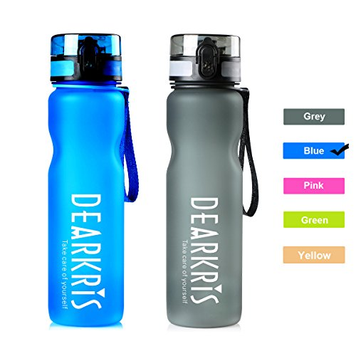 Large Sport Water Bottle 1L 36oz, Simple Modern BPA Free Tritan Water Bottle for Women Men(Blue)