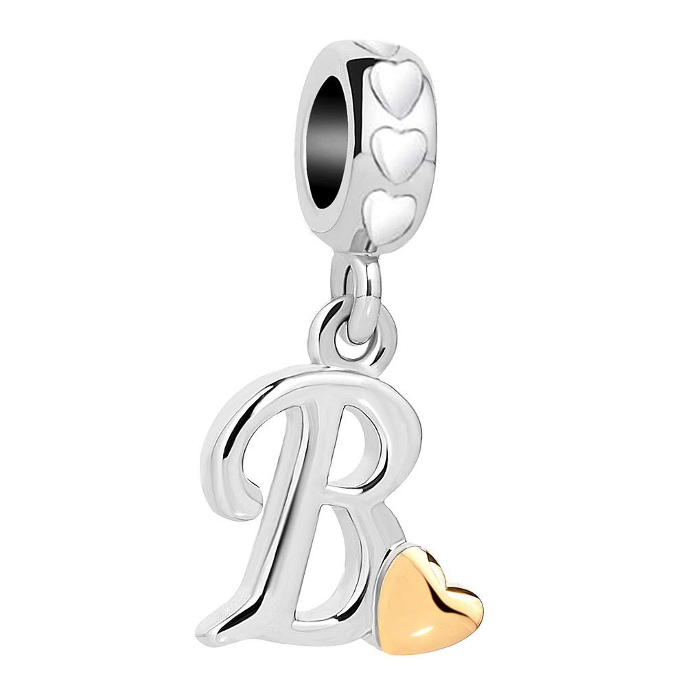 Jewelry Findings & Components Smart New Arrived 26 Letters Stainless Steel Beads Charm With Hole High Quality Goods