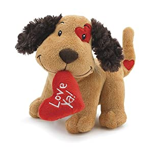 "Cute Valentine Plush Fetching Dog with ""Love Ya"" Red Heart Shaped Pillow 8"" - 51 2BzJpCNaXL - 2PO Cute Plush Fetching Dog with Love Ya Red Heart Shaped Pillow 8″"