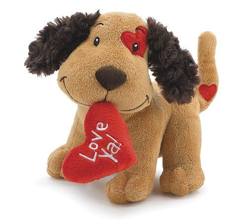 Cute Valentine Plush Fetching Dog with
