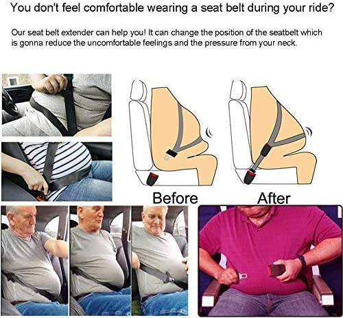 Buckle Up and Drive Safely Again by AIBUYTEC E-Mark Safety Certification Seat Belt Extender Seat Belt Lengthening Accessories 7//8 Inch Metal Tongue Width