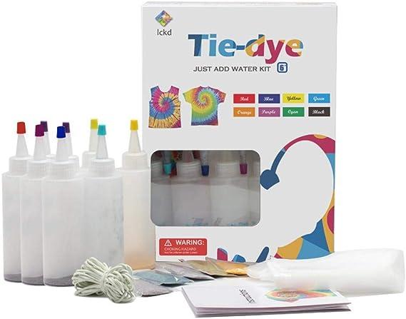 MANGGUO Kit Tie-Dye con Guantes de Botella de Tinte ...
