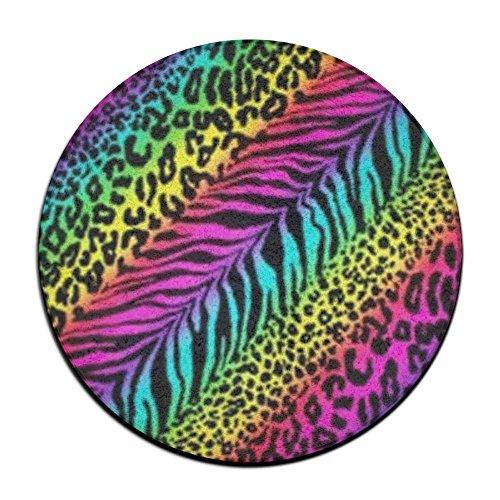 ART TANG Rainbow Animal Zebra Print Area Rug