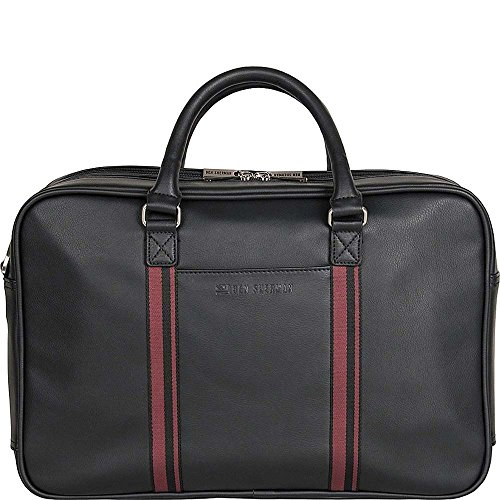 Ben Sherman Kingsway Leather Double Compartment 15'' Computer Briefcase in Black by Ben Sherman Business and Travel