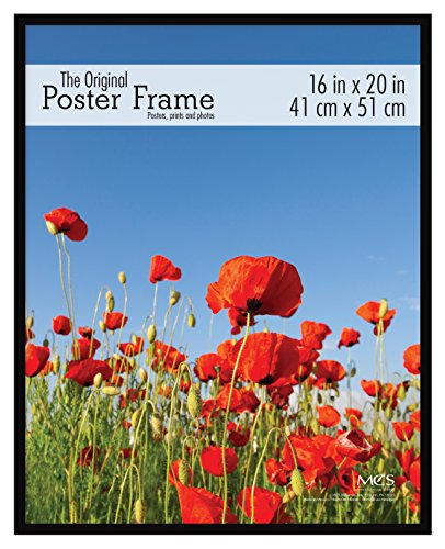MCS 65534 Original Poster Frame with Strong Pressboard Backing, Black, 16 by 20-Inch
