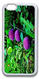 iPhone 6 Cases, Personalized Protective Case for New iPhone 6 Soft TPU White Edge Purple Muchroom by mcsharks