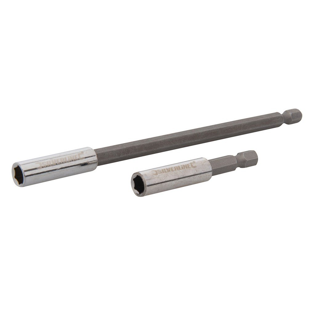 Silverline 436745 Magnetischer Schraubendreher-Bithalter Satz 60 u.150 mm 2-tlg